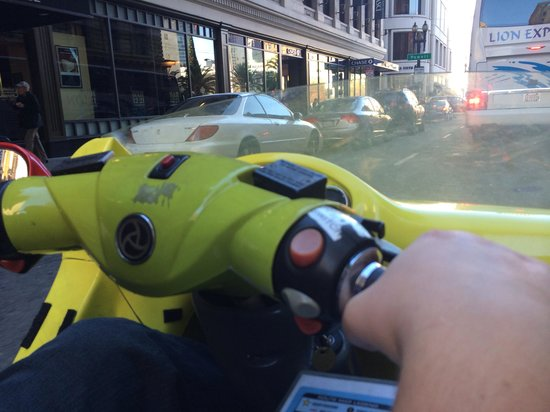 GoCar GPS Guided Tours : Watch the traffic. We almost got hit twice