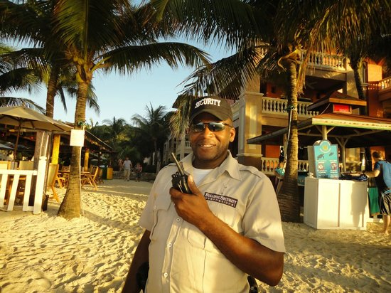 Infinity Bay Spa and Beach Resort: Esra keeping every thing safe and secure