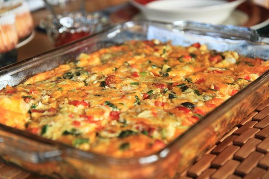 Airy Hill Farm B&B: quiche by hazel