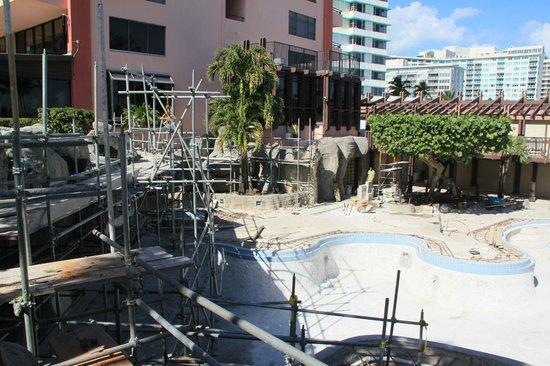 The Alexander All Suite Oceanfront Resort Pool Area Under Construction
