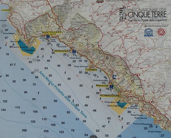 Camping Acqua Dolce: Carte des Cinque Terre