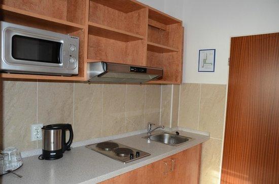 Apartment-Hotel Hamburg Mitte: кухня в номере