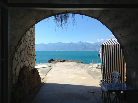 The Marmara Antalya: tunnel exit on to private beach