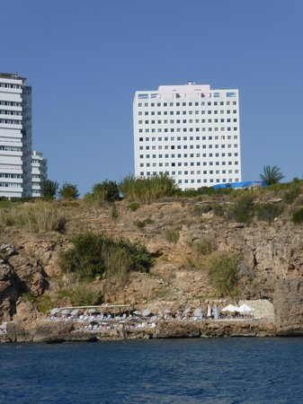 The Marmara Antalya : View of the hotel from the sea