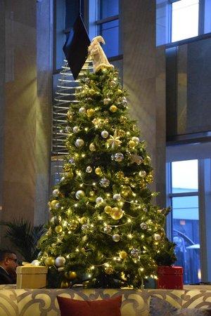 Sheraton Hotel & Convention Center Ankara : Christmas tree in the lobby