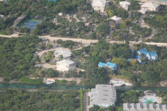 Atlantic Ocean Beach Villas: AOBV aerial view ... full property views ... canal ... slight upper beach view