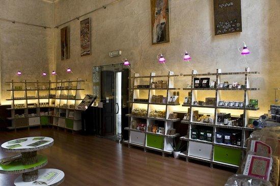 Interno erboristeria con esposizione d 39 opere d 39 arte foto for Negozi arredamenti napoli
