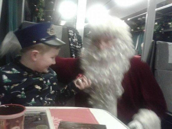 Weardale Railway: Son with santa.
