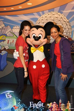 My daughter & I in EPCOT with Mickey Mouse!