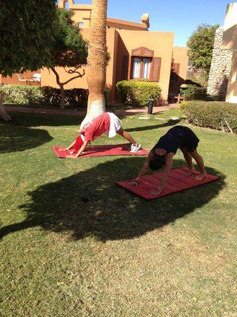 Nubian Island Hotel: Yoga with Barbara