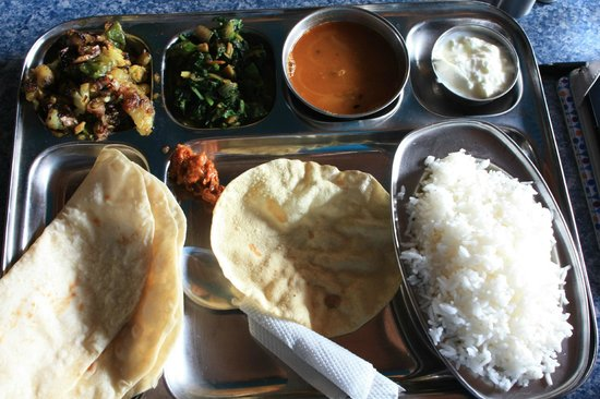 Rocky Guesthouse: Thali at Rocky's