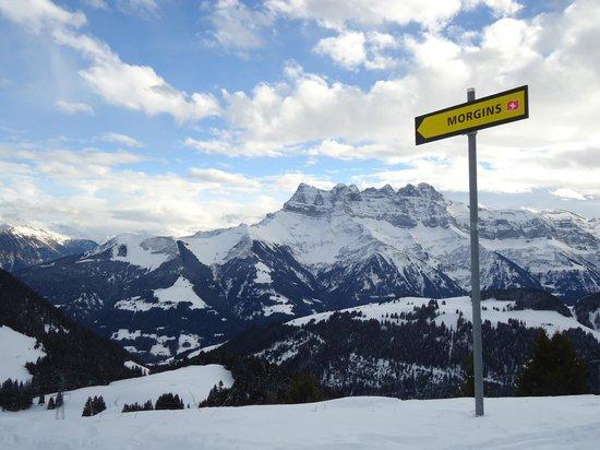 Chalet Tzigane: Ski-ing above Chatel
