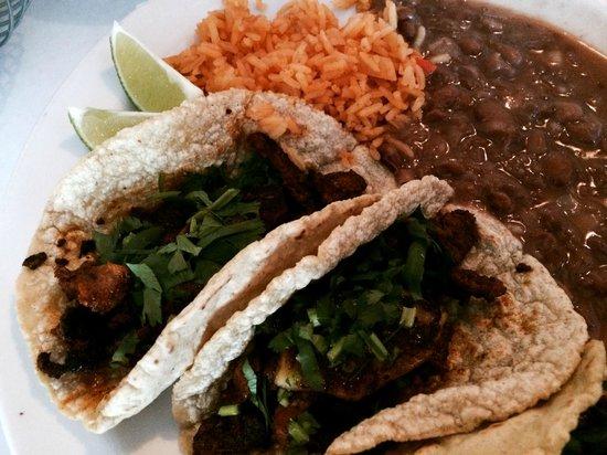 La Alianza: Tacos Al Pastor, Rice, Beans
