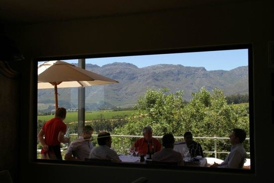 Guardian Peak: One of the views from inside the restaurant