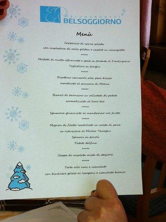 Menù di Natale - Picture of Blumenhotel Belsoggiorno, Malosco ...