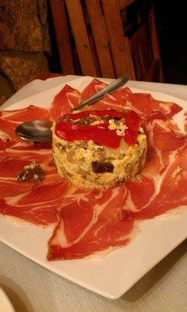 La taberna: Revuelto de setas con jamón de Teruel