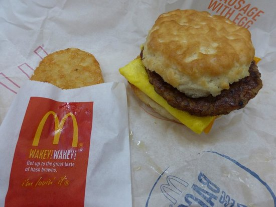 McDonald's : Sausage/egg/cheese biscuit & Hash Brown Elkton Walmart McDonalds