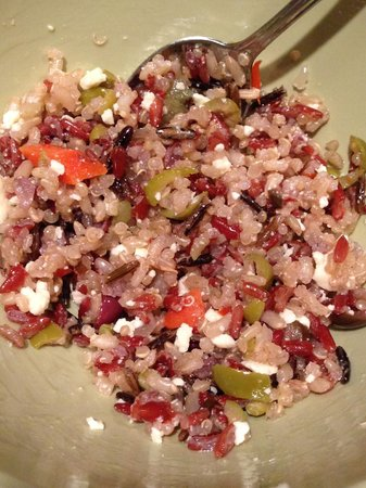 Tod Mountain Cafe: our home made mediterranean Quinoa salad