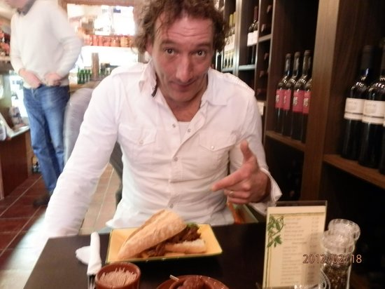 Jamon jamon delicatessen: His favourite - hot chicken!!!