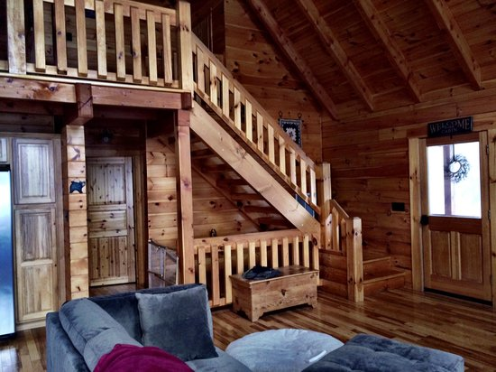 Starlit View Stairs To Loft