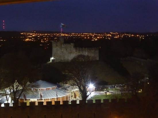 Hilton Cardiff: view from executive lounge