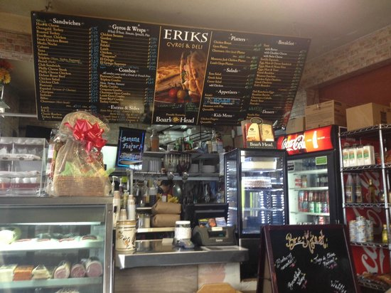 Erik's Gyros & International Deli : Erik's Gyros - The kitchen and menu