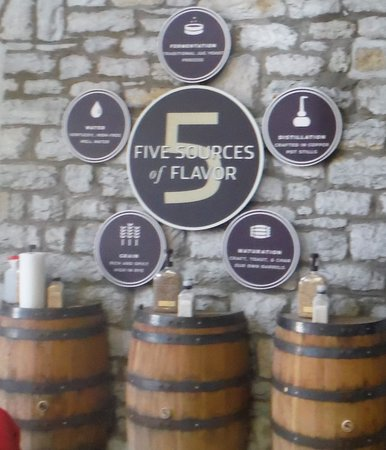 Woodford Reserve Distillery: 5 Flavors