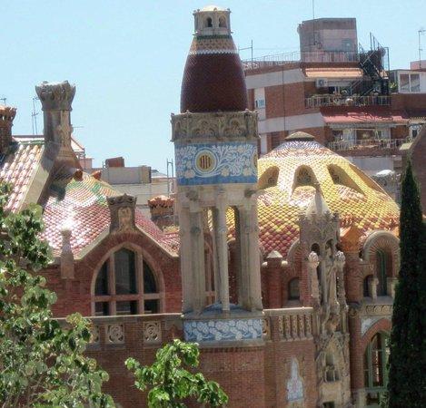 Sant Pau Recinte Modernista : rooftop view