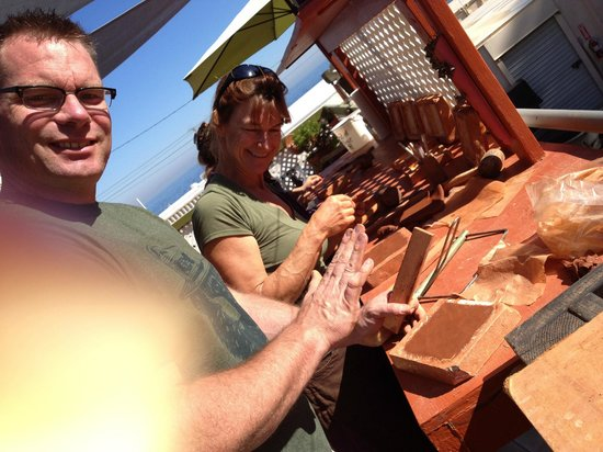 Silver Canyon Pottery: my husband and Robin