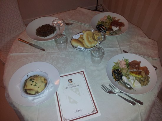 Hotel Monastero : cena con servizio in camera