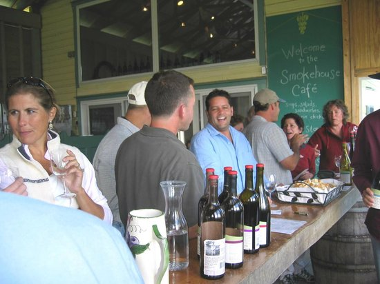 Quality Wine Tours : Quality Wine Tour group at  Glenora winery 2013