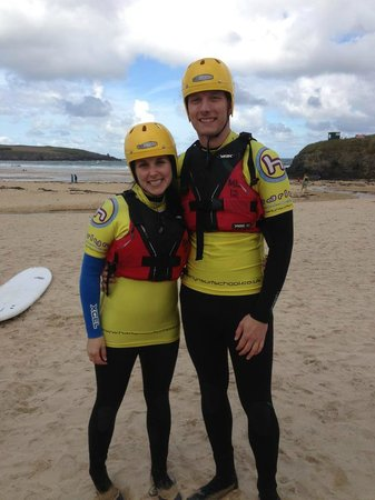 Harlyn Surf School: All geared up and ready for Coasteering!
