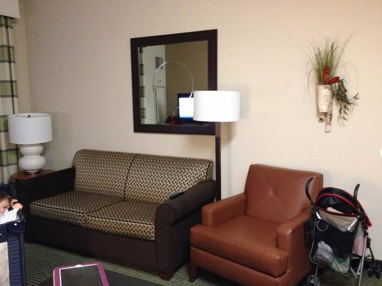Homewood Suites by Hilton Minneapolis - Mall of America: Living room with Sofa Bed