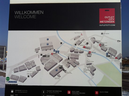 Outletcity Metzingen : Layout of Metzingen Outlets City
