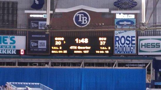 Tropicana Field : Scoreboard Says it All