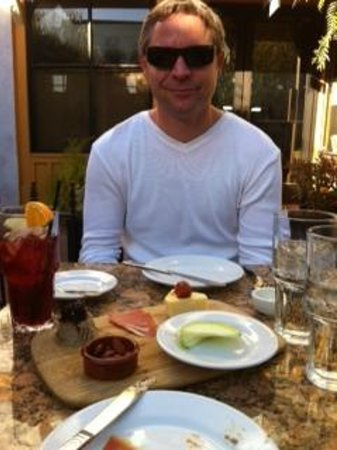 LaSalette Restaurant: appetizer sampler and sangria on the patio