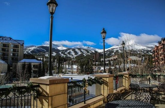 Main Street Station : View of Peak 9 from the veranda right off the Pioneer Room