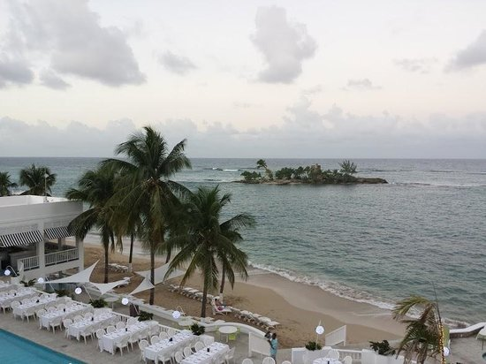 Couples Tower Isle : View From a Premier Ocean View Room Before Sunrise