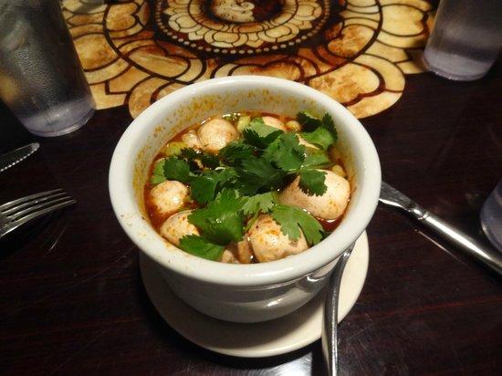 Teak Thai Cuisine and Sushi Bar: Hot and Sour Mushroom Soup