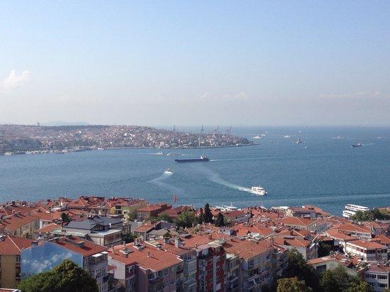 Conrad Istanbul Bosphorus: ホテルのラウンジから見たボスポラス海峡