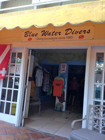 Blue Water Divers: Outside the shop.