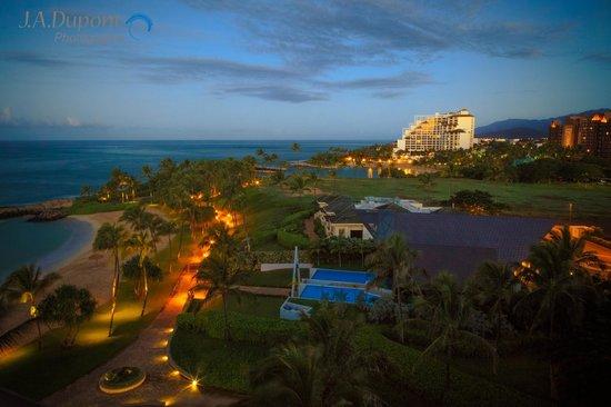 Beach Villas at Ko Olina: Morning view from  room 808