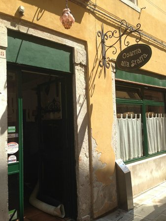 Osteria Alla Staffa: Entrance from the Alley