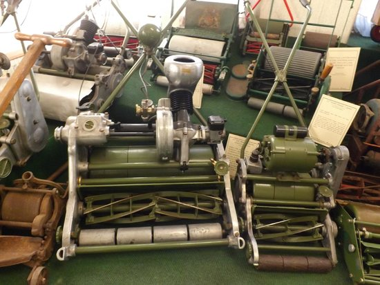British Lawnmower Museum: A selection of antique lawnmowers.