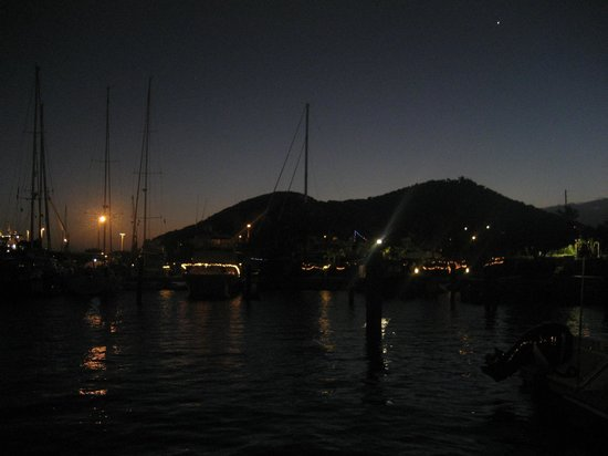 Tickles Dockside Pub : View from Tickles at night