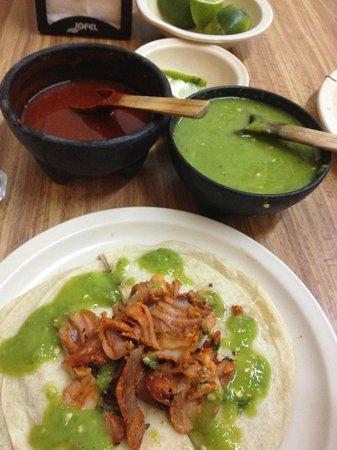 Las Ranas : Quesadilla with free salsas and limes