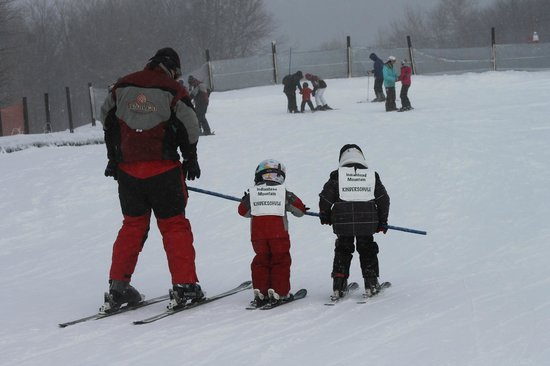 Wakefield, MI: Part of the Kinderschule ski lesson.