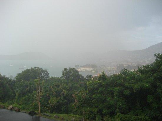 Bluebeard's Castle Resort : View on Charlotte Amalie in the rain