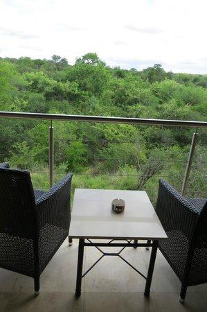Kapama River Lodge: Vista desde el balcon de la habitacion