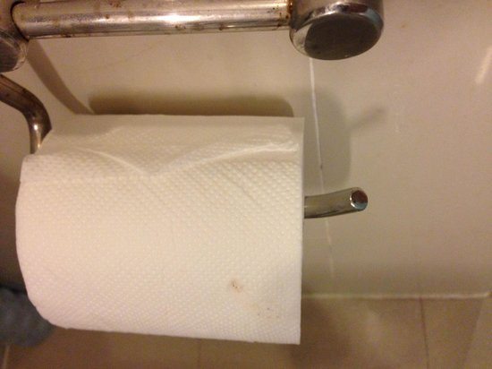 Holiday Inn Express City Centre Dalian: Stain on toilet paper